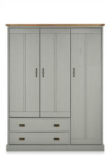Shoreditch® Grey Triple Wardroabe