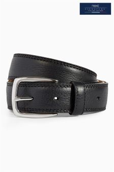 Black Premium Stitch Belt