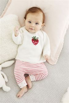 Pink Strawberry Joggers Two Pack (0mths-2yrs)