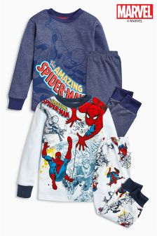 Multi Spider-Man™ Snuggle Fit Pyjamas Two Pack (9mths-8yrs)