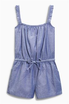 Blue Chambray Playsuit (3-16yrs)