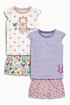 Multi Bear Shorts Pyjamas Two Pack (9mths-8yrs)