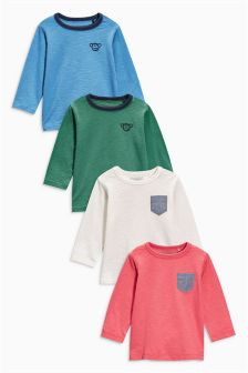 Multi Long Sleeve Tops Four Pack (3mths-6yrs)