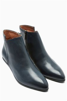 Signature Leather Asymmetric Boots