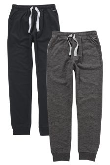 Black/Grey Joggers Two Pack (3-16yrs)