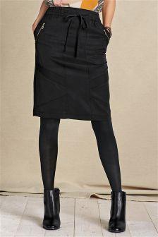 Black Utility Skirt