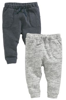Grey 2 Pack Joggers (0-18mths)