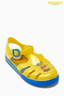 Yellow Minions Jelly Shoes (Younger Boys)