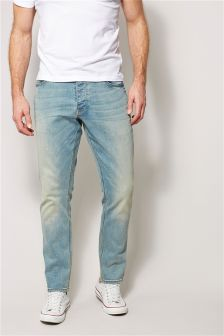 Light Wash Jeans With Stretch