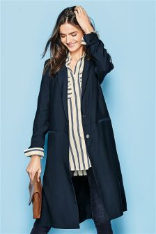 Navy Duster Jacket