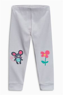 Grey Mouse Leggings (3mths-6yrs)