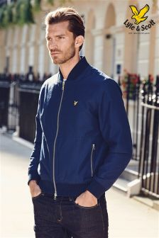 Navy Lyle and Scott Bomber Jacket