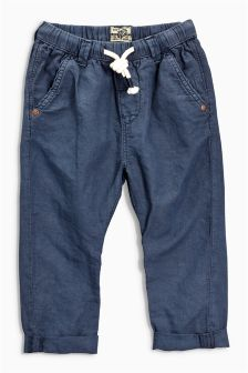 Linen Blend Pull On Trousers (3mths-6yrs)