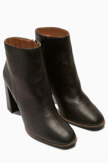 Flare Block Heel Boots