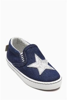 Denim Skate Shoes (Younger Girls)
