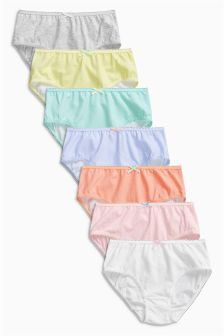 Multi Pastel Briefs Seven Pack (1.5-16yrs)