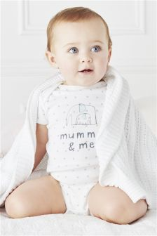 White Mummy And Me Short Sleeve Bodysuit (0-18mths)