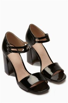 Double Ankle Strap Patent Sandals