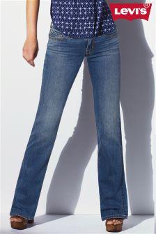 Dark Blue Levi's® 715 Boot Cut Jean