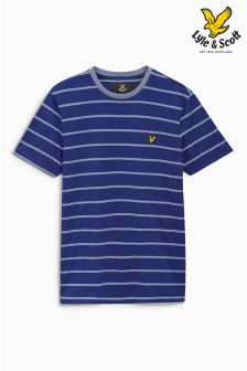 Blue Lyle & Scott Stripe T Shirt