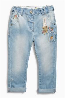 Light Wash Bunny Jeans (3mths-6yrs)