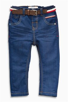 Aqua Belted Jeans (3mths-6yrs)