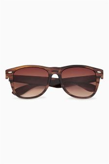 Brown Texture Effect Polarised Festival Sunglasses