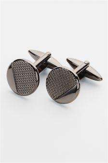 Gunmetal Texture Cufflinks