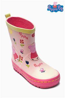 Ecru Peppa Pig™ Wellies (Younger Girls)