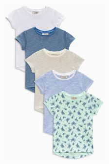 Blue T-Shirts Five Pack (3mths-6yrs)