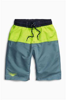 Grey/Yellow Colourblock Swim Shorts (3-16yrs)
