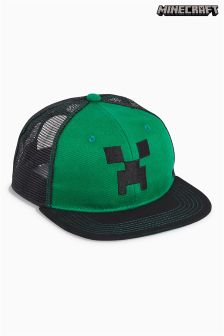 Green/Black Minecraft Mesh Cap (Older Boys)