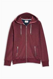 Speckle Zip Through Hoody