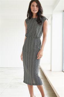 Printed Chevron Dress
