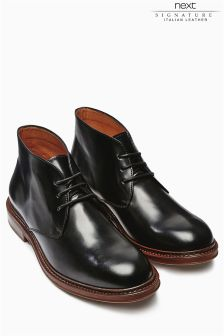 Black Italia Derby Boot