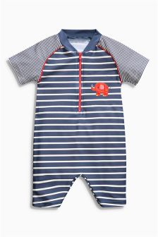 Navy Stripe All-In-One Sunsafe Suit (3mths-6yrs)