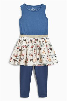 Dress and Leggings Set (3-16yrs)