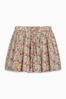 Pink Floral Print Skirt (3mths-6yrs)