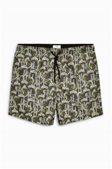 Green Palm Tree Swim Shorts
