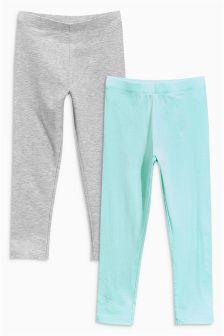Grey/Blue Leggings Two Pack (3mths-6yrs)