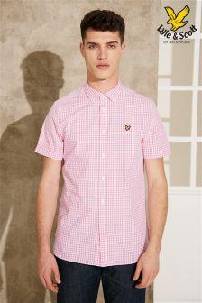 Pink Lyle & Scott Gingham Shirt