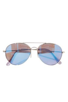 Mirrored Aviator Style Sunglasses