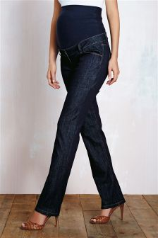 Denim Rinse Over The Bump Slim Jeans