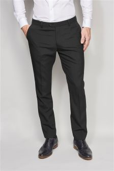 Black Wool Blend Tuxedo Suit: Taped Trousers