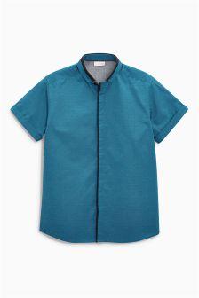 Teal Jacquard Shirt (3-16yrs)