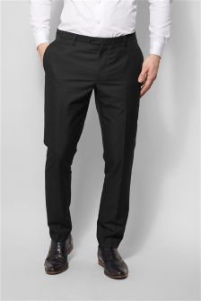 Black Textured Shawl Collar Skinny Fit Suit: Trousers