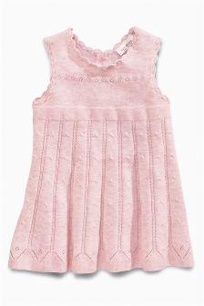 Strick-Kleid, rosa (0 Monate bis 2 Jahre)