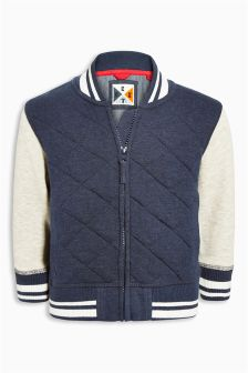 Navy Quilted Bomber (3mths-6yrs)