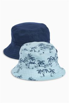 Blue Fisherman's Hats Two Pack (Younger Boys)
