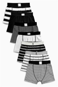 Monochrome Stripe Trunks Seven Pack (2-16yrs)